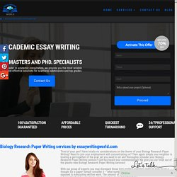 Plagiarism free Biology Research Paper Writing Service