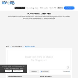 Plagiarism Checker - 100% Free to Detect Plagiarism Online