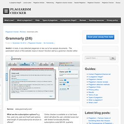 Plagiarism checker reviews: Grammarly