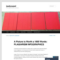 A Picture is Worth a 1000 Words: PLAGIARISM INFOGRAPHICS