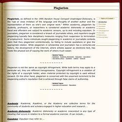 Plagiarism - Famous examples of plagiarism
