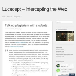 Talking plagiarism with students