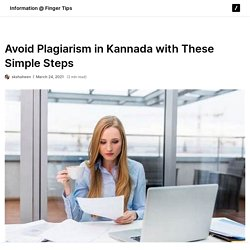 Avoid Plagiarism in Kannada with These Simple Steps