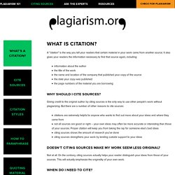 What's a citation? — Plagiarism.org - Best Practices for Ensuring Originality in Written Work