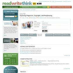 Exploring Plagiarism, Copyright, and Paraphrasing