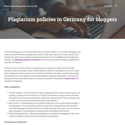 Plagiarism policies in Germany for bloggers