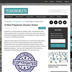 10 Best Plagiarism Checker Online - TechCricklets