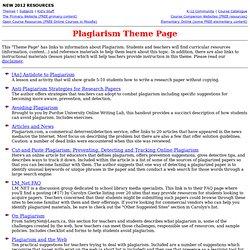 Plagiarism Theme Page
