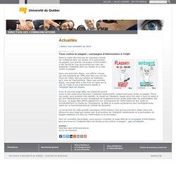 Tous contre le plagiat : campagne d'information à l'UQO