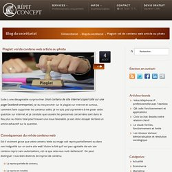 Plagiat: vol de contenu web article ou photo