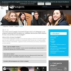 Plagiat - Université Angers