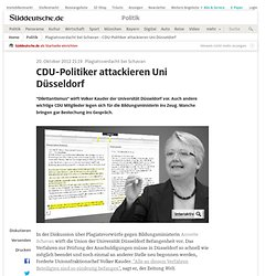 Plagiatsverdacht bei Schavan - CDU-Politiker attackieren Uni Düsseldorf - Politik