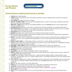 Plague Words and Phrases - StumbleUpon