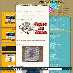 Plaid Crochet Facile (2)... - Le blog de Lingonne