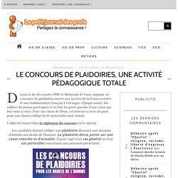Le Concours de plaidoiries, une activité pédagogique totale