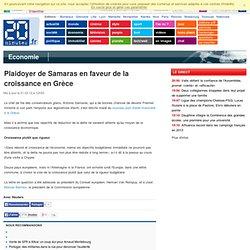 Plaidoyer de Samaras en faveur de la croissance en Grèce