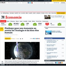 Plaidoyer pour une économie au service de l'écologie et du bien-être humain