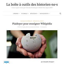 Plaidoyer pour enseigner Wikipédia