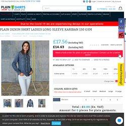 Plain Denim Long Sleeve Shirt for Women in London