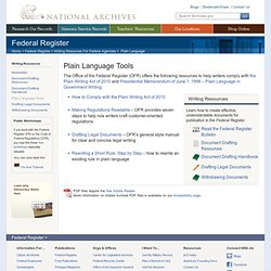 Plain Language Tools