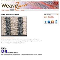 Plain Weave Variations