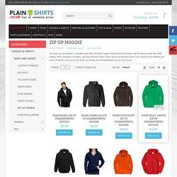 Plain Zip up Hoodie £5.50, Blank zip up hooded top