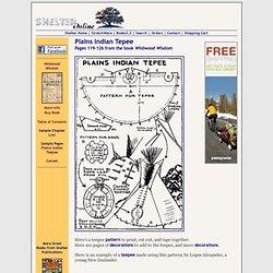 Plains Indian Tepee - How to Make, Erect, and Decorate a Tepee (Teepee, Tipi)