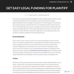Legal Funding for Plaintiff by Reputed Legal Funding Company in USA