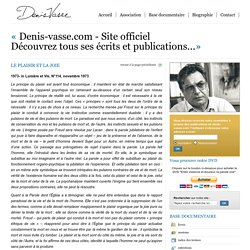 Denis Vasse - Site officiel