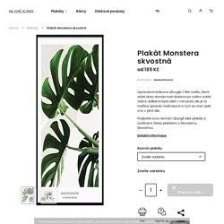 Plakát Monstera skvostná - NA VLNĚ SCANDI