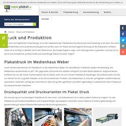 Plakat drucken Produktion Plakatwerbung Plakatdruck Druck