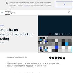 Plan a better decision meeting