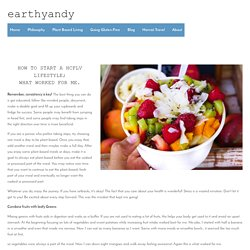 Plan A Balanced Diet — earthyandy