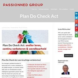 Plan Do Check Act & slim verbeteren