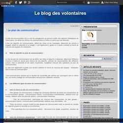 Le plan de communication - Le blog des volontaires