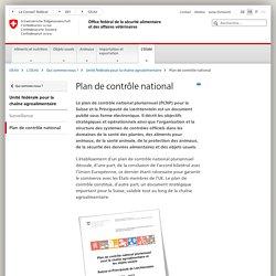 CONFEDERATION SUISSE 10/05/16 Plan de contrôle national pluriannuel pour la Suisse.