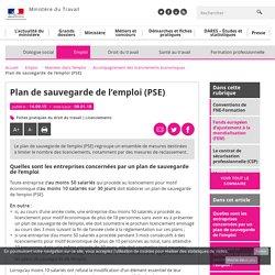 Plan de sauvegarde de l'emploi (PSE) - Accompagnement des licenciements économiques - Ministère du Travail