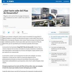 Plan de desarrollo de Bogotá - Bogotá
