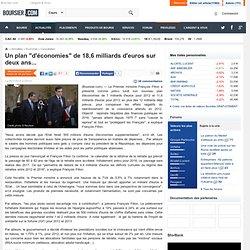 """Un plan """"d'économies"""" de 18,6 milliards d'euros sur deux ans..."""