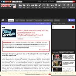 BON PLAN - Énorme chute de prix des jeux chez Micromania (#NePayezPasVosJeux70Euros)