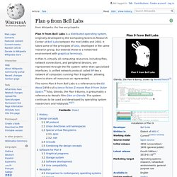 Plan 9 from Bell Labs