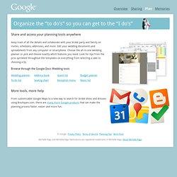 Plan · Google for Weddings