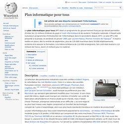 Plan informatique pour tous