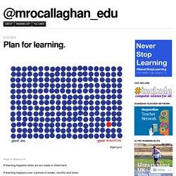 Plan for learning. – @mrocallaghan_edu