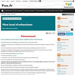 Plan local d'urbanisme - Ville de Pau