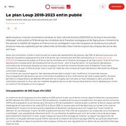 Le plan Loup 2018-2023 enfin publié