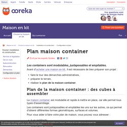 Plan maison container - Ooreka