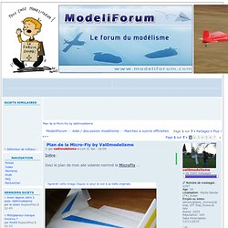 Plan de la Micro-Fly by Val0modelisme