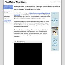 Plan Moteur Magnétique
