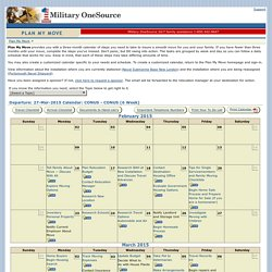Plan My Move - Calendar
